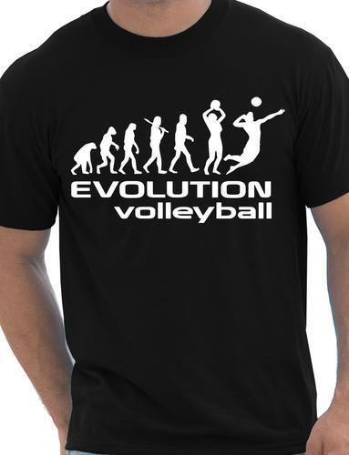 8f74f70f77 Evolution of Volleyball Sport Mens Funny free shipping Unisex Casual tee  gift