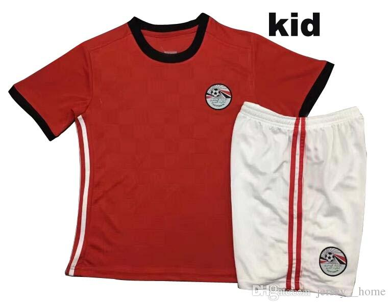 155481a0b 2018 World Cup Egypt Home Soccer Jersey M. SALAH Home Red Kids Kits Jersey  18 19 KAHRABA A. HEGAZI RAMADAN Children Football Shirt Canada 2019 From ...