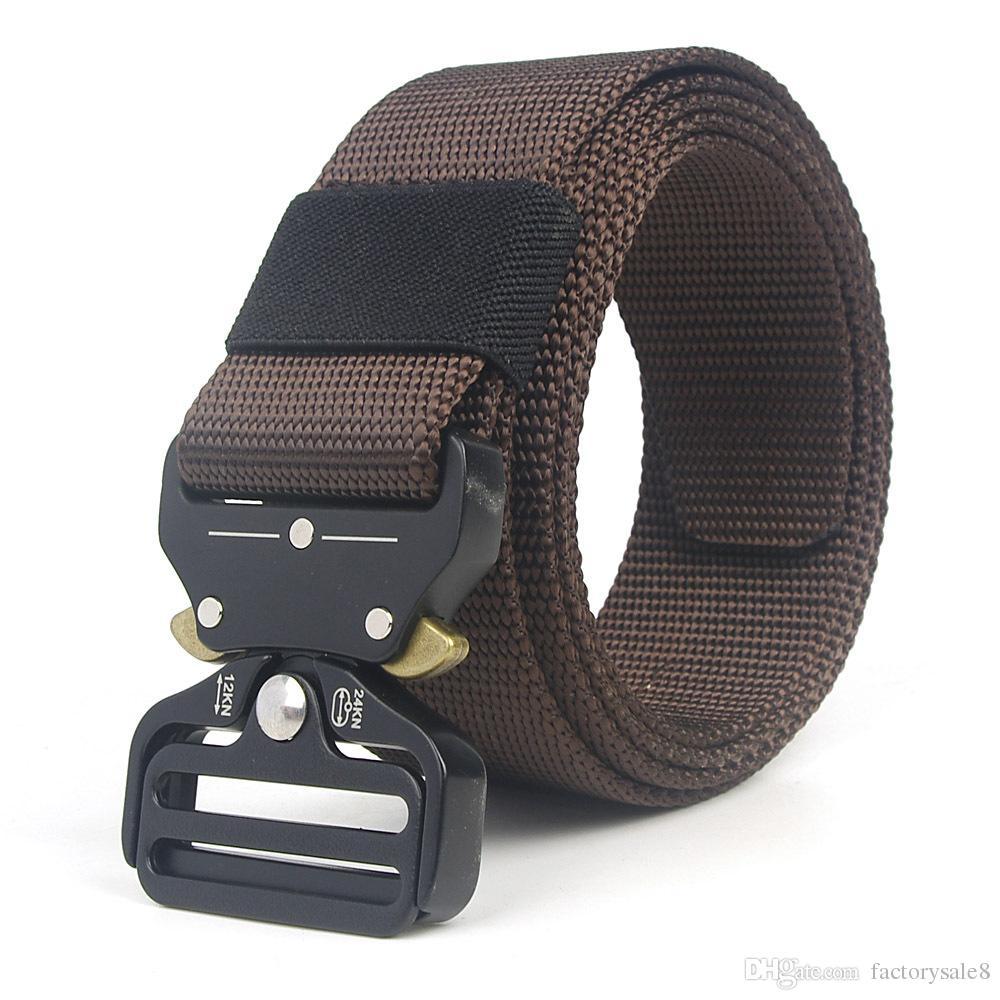 2018 Army Tactical Waist Belt Man Jeans Male Military Waist Casual Canvas Webbing Nylon Duty Strap Belt