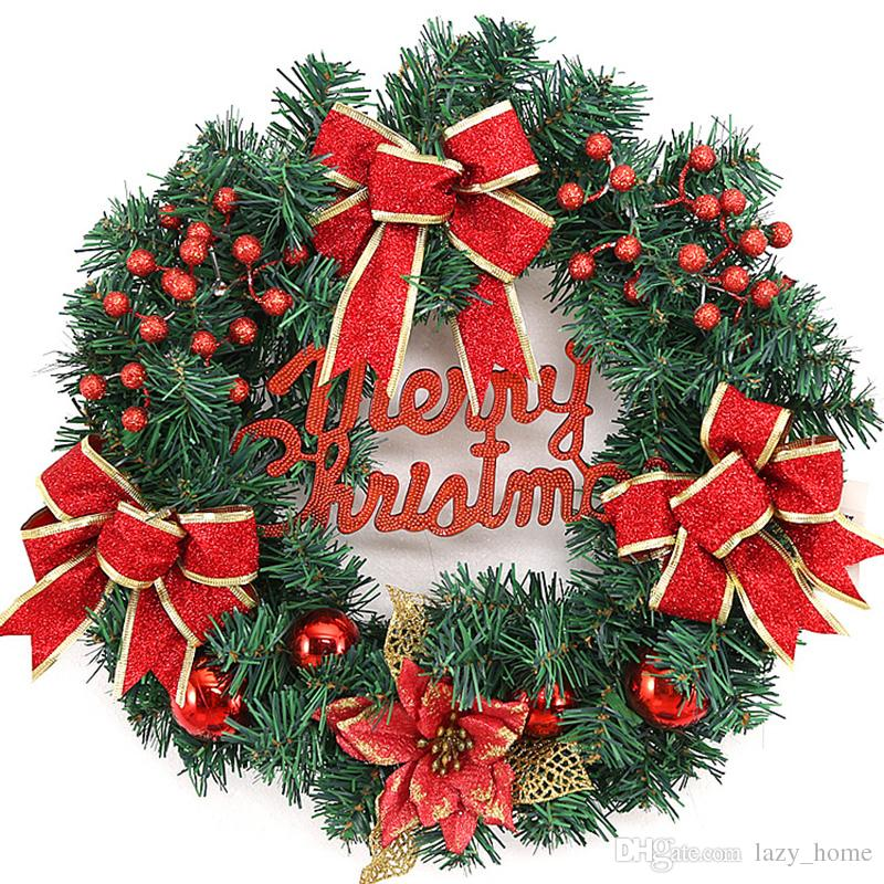 Christmas Door Wall Wreath Ornament Garland Decoration Christmas