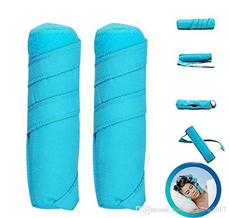 Hair Rollers Sleep Styler Kit Long Cotton Curlers DIY Styling Tools Blue Color Magic Hair Dressing Charming Hairstyle