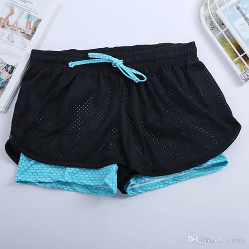 380b051f87 Wholesale-Yoga Shorts Women Cotton Mesh Short Pant Fitness Leggings ...