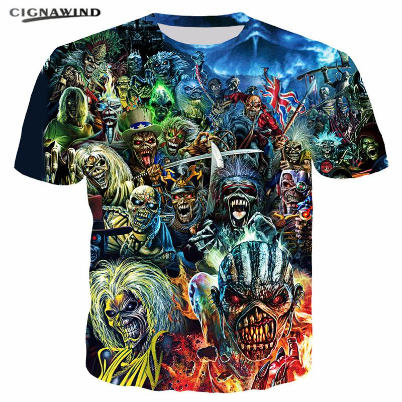 7210cff9265 Harajuku Style Iron Maiden Killers Series Funny T Shirts 3D Printed  Women Men T Shirts Fashion Hip Hop Short Sleeve Summer Tops Joke T Shirt  Coolest Tee ...