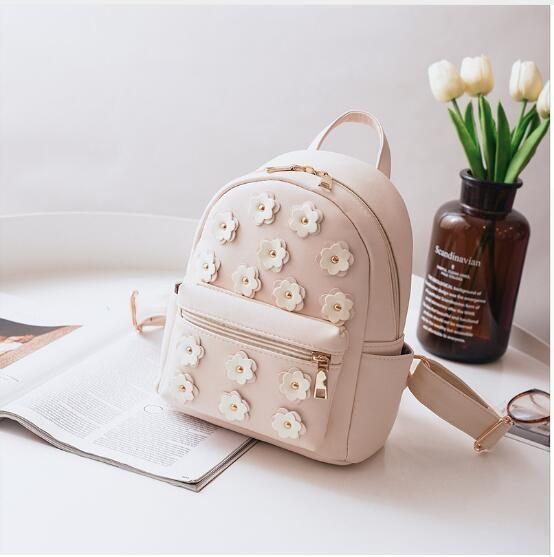 1d439cbf8602 2018 New Women Flower Mini Bag Printing Backpack Female Korean School Bags  For Teenagers Girls Small Backpack Mochila Escolar Canada 2019 From  Cdvjlidvfsf