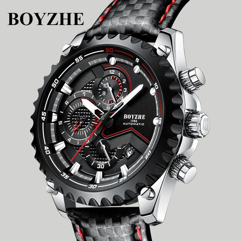Para Lujo Masculino Luminoso Deportivo Mecánico Relojes Marcas Reloj Orologio Automático Hombre Primeras De Boyzhe Pulsera Calendario nOw0Pk