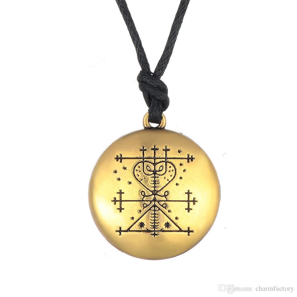 Fishhook Wholesale Papa Damballah Voodoo Loa Veve Pendant Lwa Protection  Amulet Hoodoo Talisman Vintage Necklace Gothique