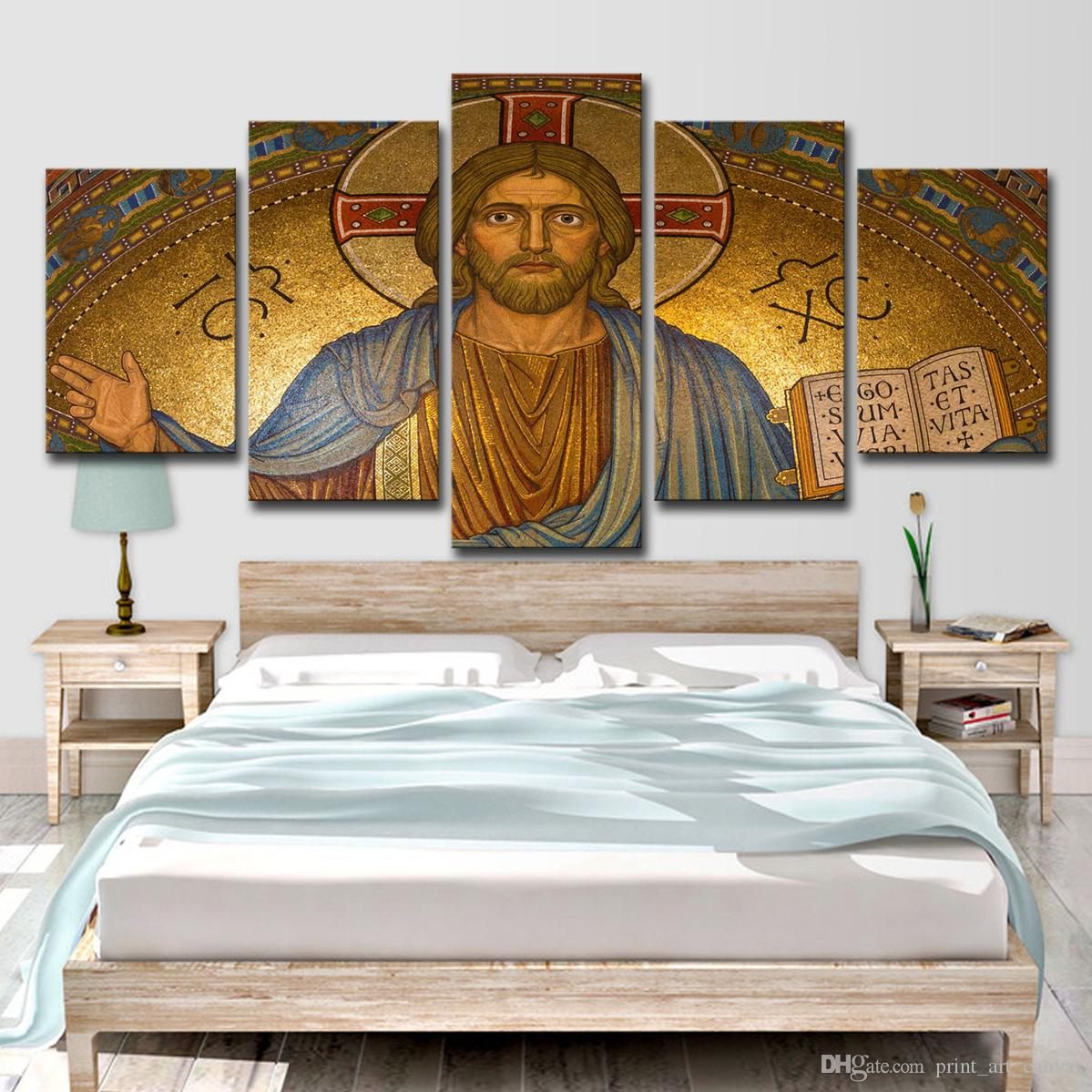2018 modern canvas wall art christ posters hd printed oil painting