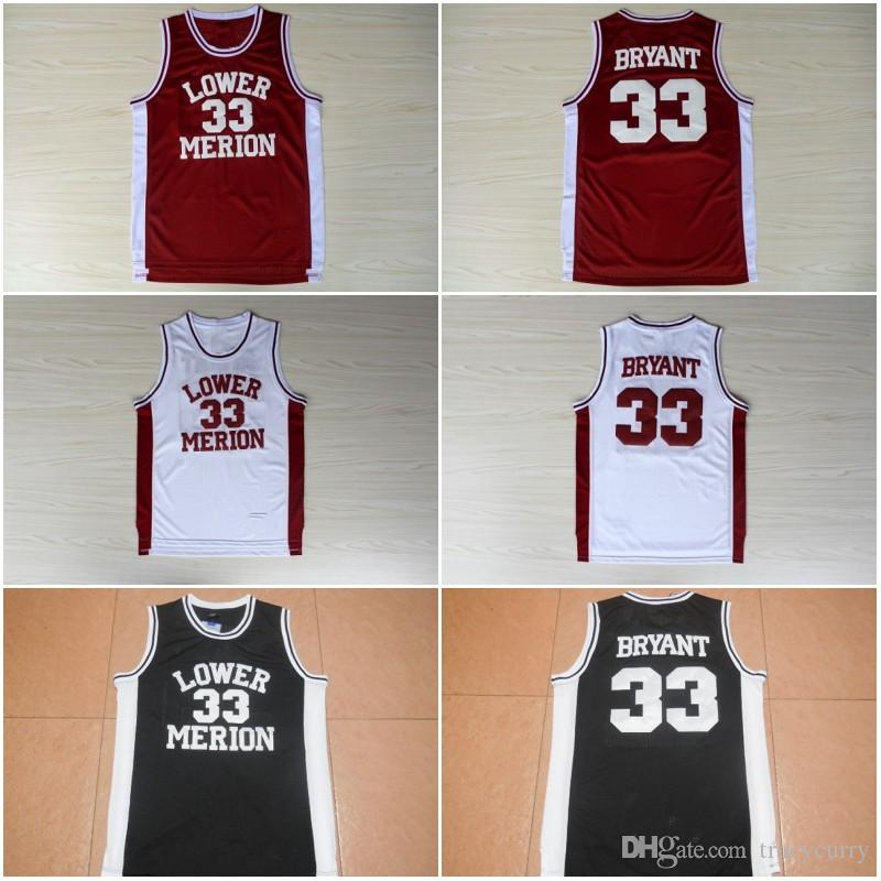0684e8523aa ... coupon code for 2018 33 kobe bryant jersey stitched mens kobe bryant  lower merion red white