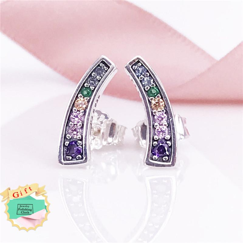 hot variants gold products multi color colored zircon plated crystals earrings aaa with stud earring sell of