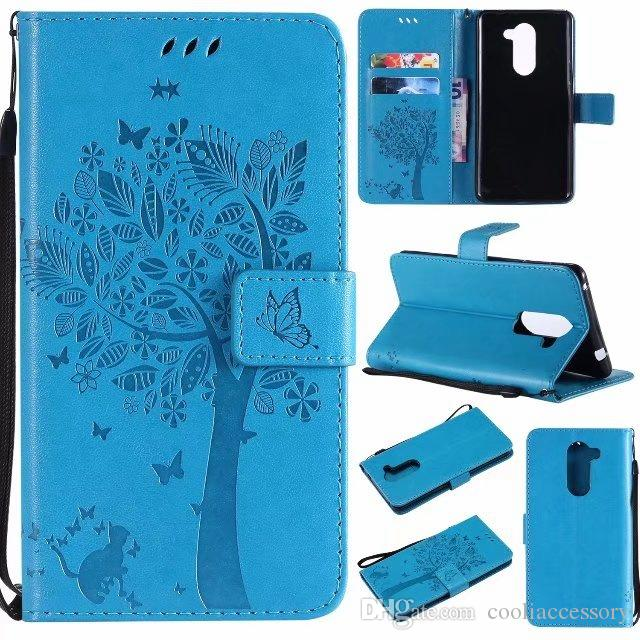 Wallet Leather Case For Huawei Honor 6X Mate 10 PRO P9 LITE MINI Y7 Sony Xperia L2 XA2 XZ1 OnePlus 5T Stand Strap Butterfly Tree Skin Cover