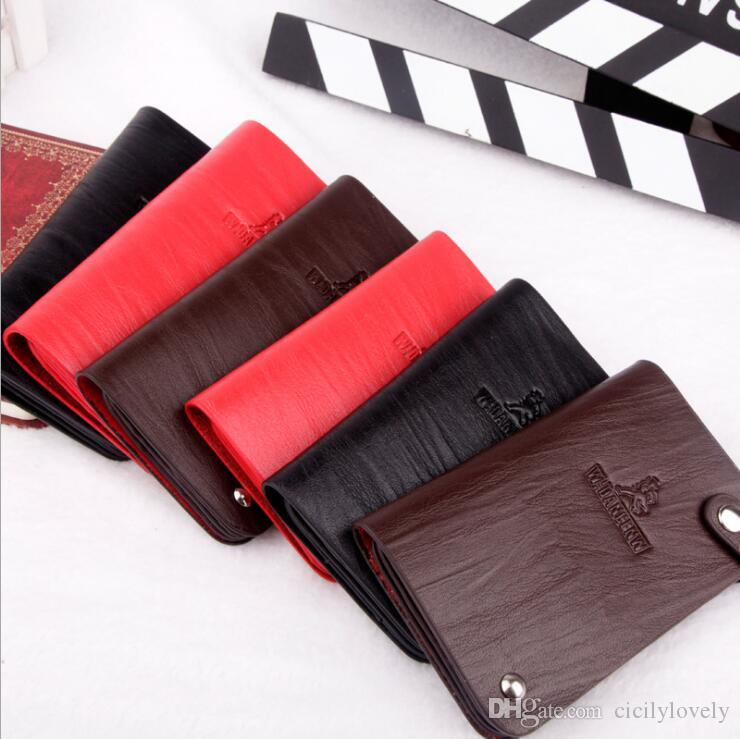 2018 New Mens Fashion Classic Design Casual Credit Card ID Holder Hiqh Quality Real Leather Ultra Slim Wallet Packet Bag For Mans/Womans