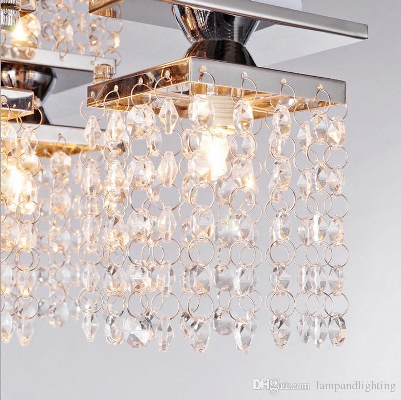 Modernas luces de techo cuadradas de cristal G9 bombilla lamparas plafons luminaria para sala de estar dormitorio luminarias para salon