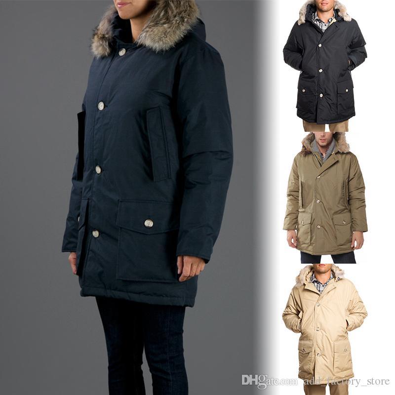 purchase cheap 80b8c a17a8 DHL LIBERA il trasporto Woolrich Brand Uomo Arctic Anorak Piumini Uomo  inverno piumino d oca 90% Outdoor Parka spesso cappotto caldo outwear