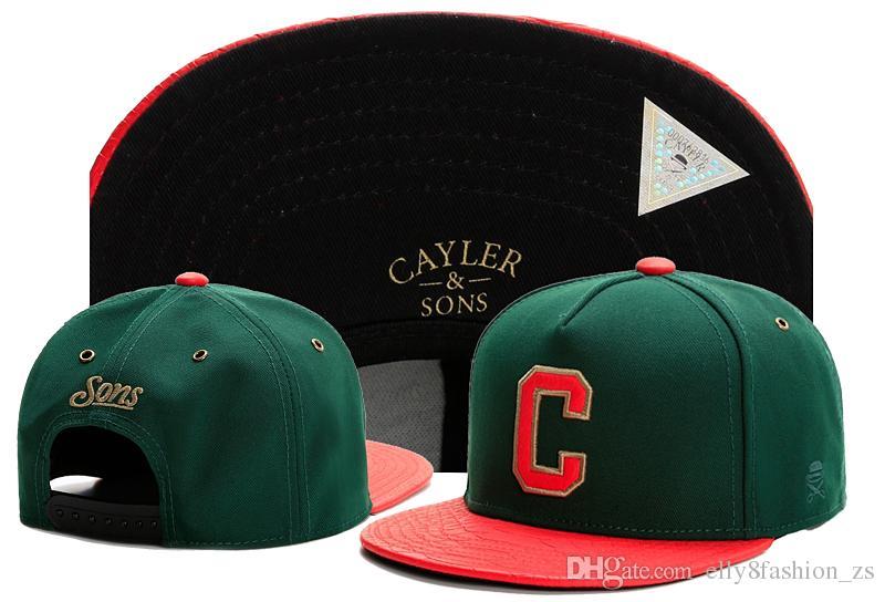 Big C Lette Gorra de béisbol Adulto Negro Sombreros de bordado Ajuste Casual Unisex Snapbacks Peaked Sun Cap Hip Hop sombreros de ala plana