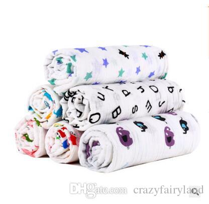 Girls Fox Bear Crown Muslin Swaddle Blanket Newborn Baby Bath Towel Ins Flamingo Swaddle Blankets Functions Baby Swaddle Blanket 75 Styles