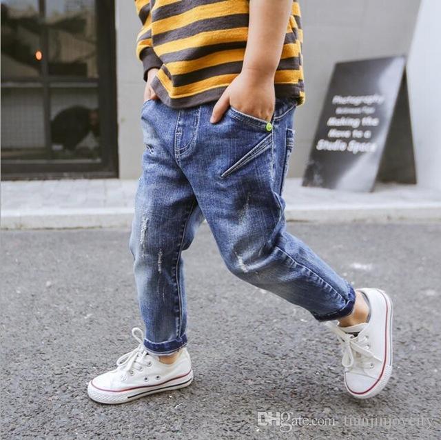 Mädchen Kleidung 7-15yrs Große Mädchen Kleidung 2019 Neue Mädchen Jeans Hosen Marke Kinder Gebrochen Loch Hosen Hosen Mode Kinder Sommer Jeans Hose