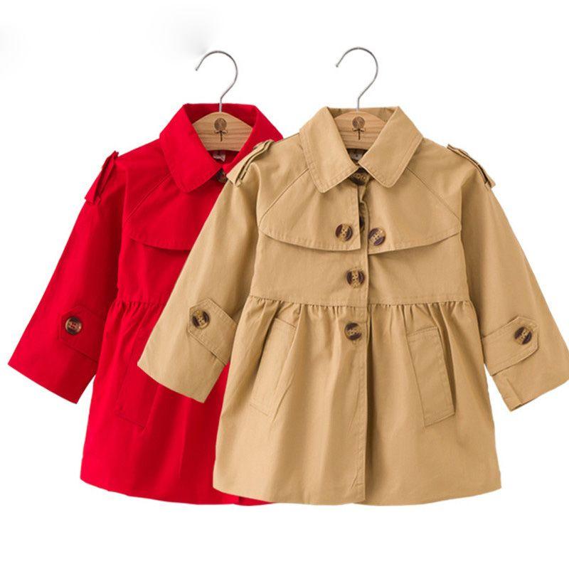 555b40361 Girls Jacket Children S Clothing Girl Trench Coat Kids Jacket Hooded ...