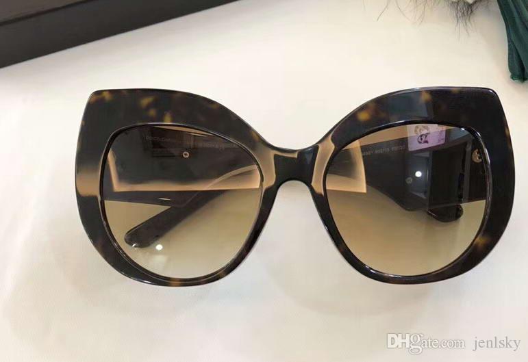 5b26c11e05781 Compre Mulheres 4321 Havana   Gradient Marrom Gato Óculos De Sol Do Olho  Stud Gafas De Sol Designer Óculos De Sol Óculos Novo Com Caixa De Jenlsky,  ...