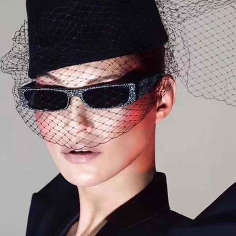24bc6afd7e1 2018 Hot New Design Women Lady Chic Sunglasses Fashion Female Cool Small  Frame Rhinestone UV400 Brand Designer Eyewear Cheap Eyeglasses Sunglasses  Shop From ...
