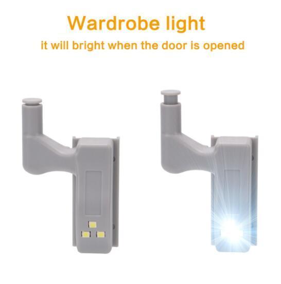 2018 0.25w Inner Sensor Light Led Hardware Under Cabinet Hinge Lamp  Universal Kitchen Living Room Cupboard Wardrobe Night Light With Battery  From Cnpartner1 ...