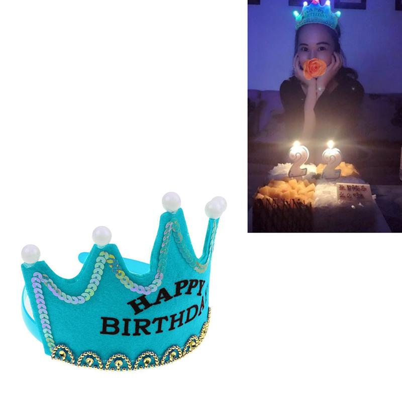 Princesse couronne chapeau anniversaire bonne fête décorations de fête fille décoration chapeau d'anniversaire