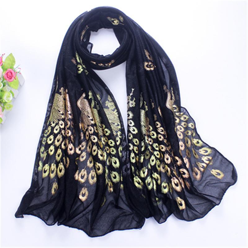 Fashion Women Scarf Sheer Women Silk Scarves Chiffon Shawl Female ... ea76d5867285
