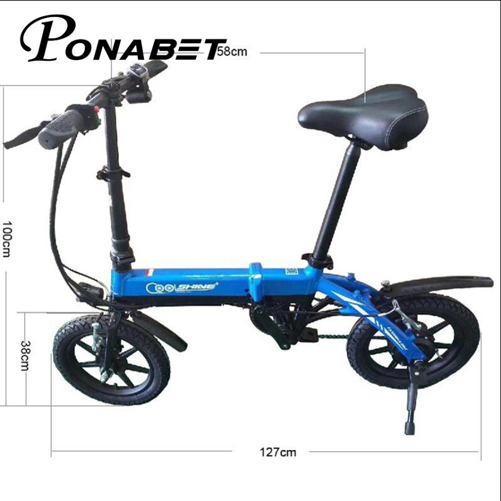 Mini Falten Roller E-bike Tragbare Faltbare Elektrische Fahrrad Fahrrad Bürstenlosen Motor Lithium-batterie Leichte Elektro-scooter Sport & Unterhaltung