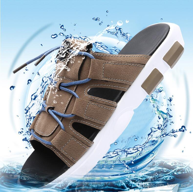 Men's Slippers Sandals Casual Shoes Fashion Summer Beach Slippers Men Sandals Summer Slippers Beach Casual Shoes Breathable