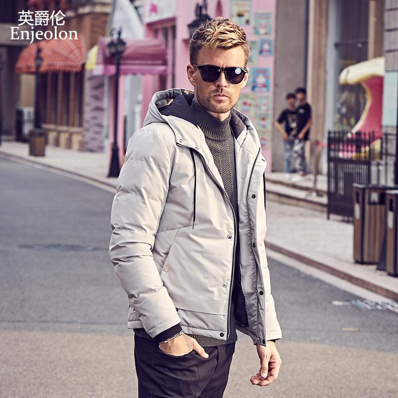 5f40f1117 Enjeolon Brand new winter Cotton Padded Jacket hoodies Men thick hoodies  Parka coat male Quilted winter jacket Coat 3XL MF0726