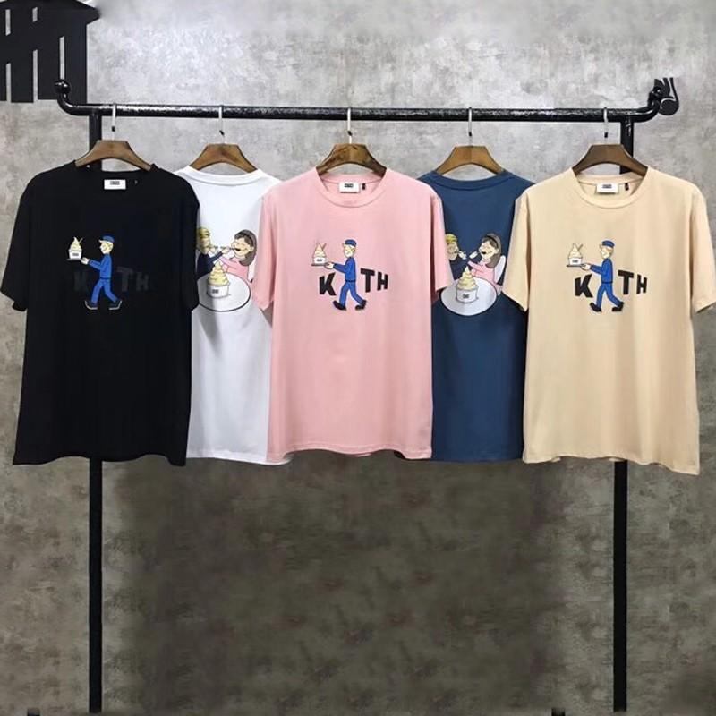 "09490f0ec3a6 18SS Kith Treats ""Delivered"" Cereal Day Print Tee Simple Fashion Men Women  Short Sleeves Summer Street Skateboard Casual T Shirt HFYMTX0101 Humor  Shirts ..."