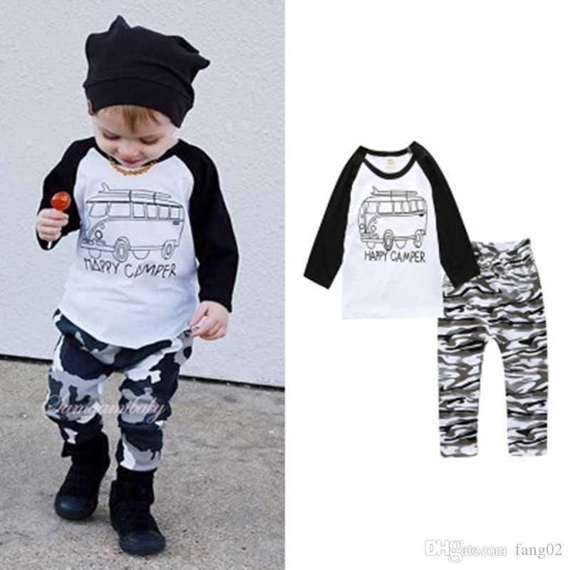 0193e2f74 2019 2018 New Arrivals Baby Boy Clothes Set Letter T Shirt With Long ...
