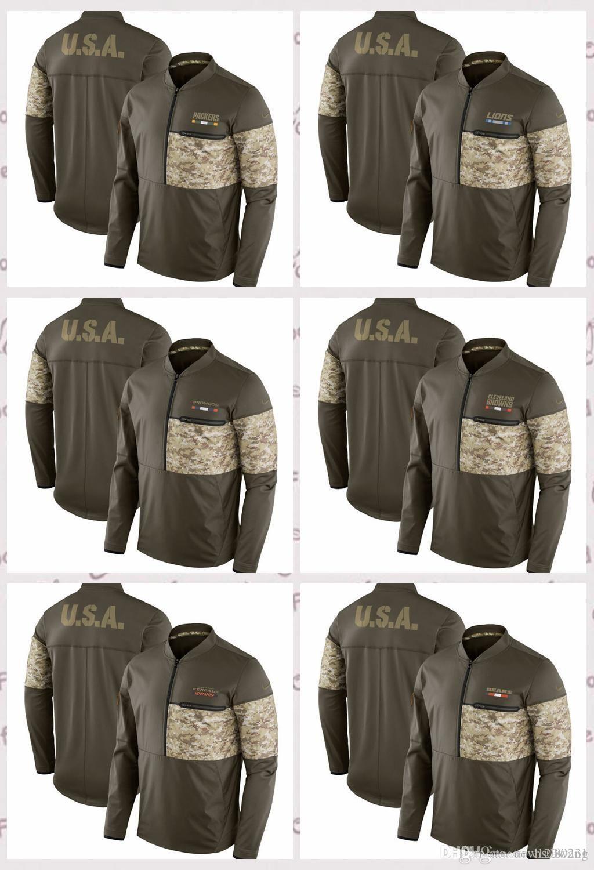 wholesale dealer e0f6e d764a Chicago Bears Cincinnati Bengals Cleveland Browns Denver Broncos Detroit  Packers Salute to Service Sideline Hybrid Pullover Jacket