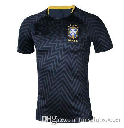 Camisetas De Fútbol Brasil 2018 Copa Del Mundo De Manga Larga Entrenamiento  JESÚS COUTINHO FIRMINO 18 19 Fútbol Kit Camisa Camisa De Futebol Por ... 0f48cd671f29a