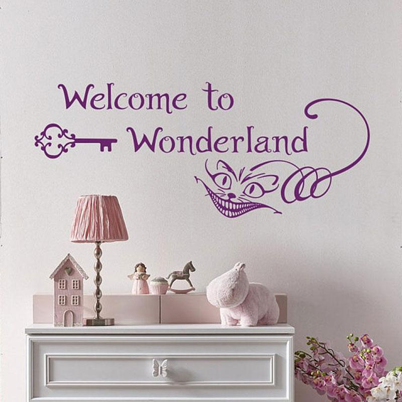 welcome to wonderland wall decal alice in wonderland stickers