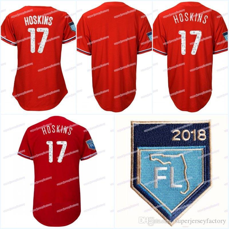 06f735afa jerseys mlbshop  17 rhys hoskins mens 2018 spring training jersey women  youth all stitched flexbase cool base high