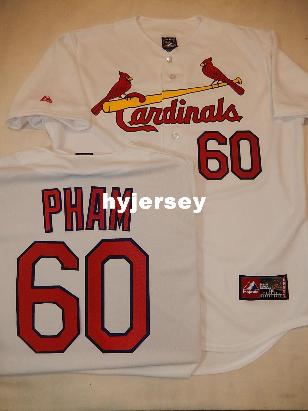 4c1f2199f Cheap Custom Majestic St. Louis #60 TOMMY PHAM SEWN Baseball Jersey ...