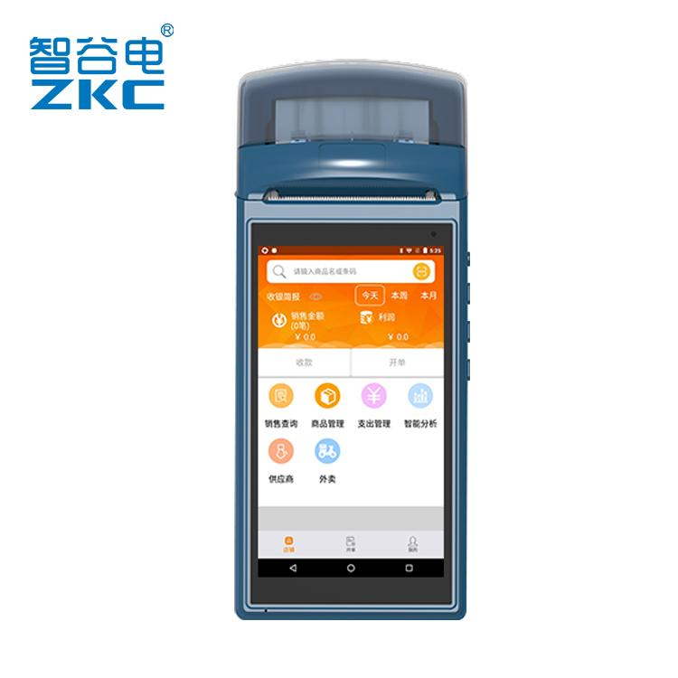 ZKC 5501 Android terminal Handheld PDA portable Barcode scanner  Bluetooth4 0 WIFI 3G Free SDK with built in thermal printer