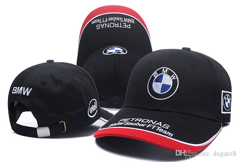 e3e5da15ef761 2018 New BMW Adjustable F1 Cap Snapback Hats Baseball Caps For Men Women  Sport Hip Hop Mens Womens Bone Gorras Womens Baseball Hats Cheap Snapback  Hats From ...
