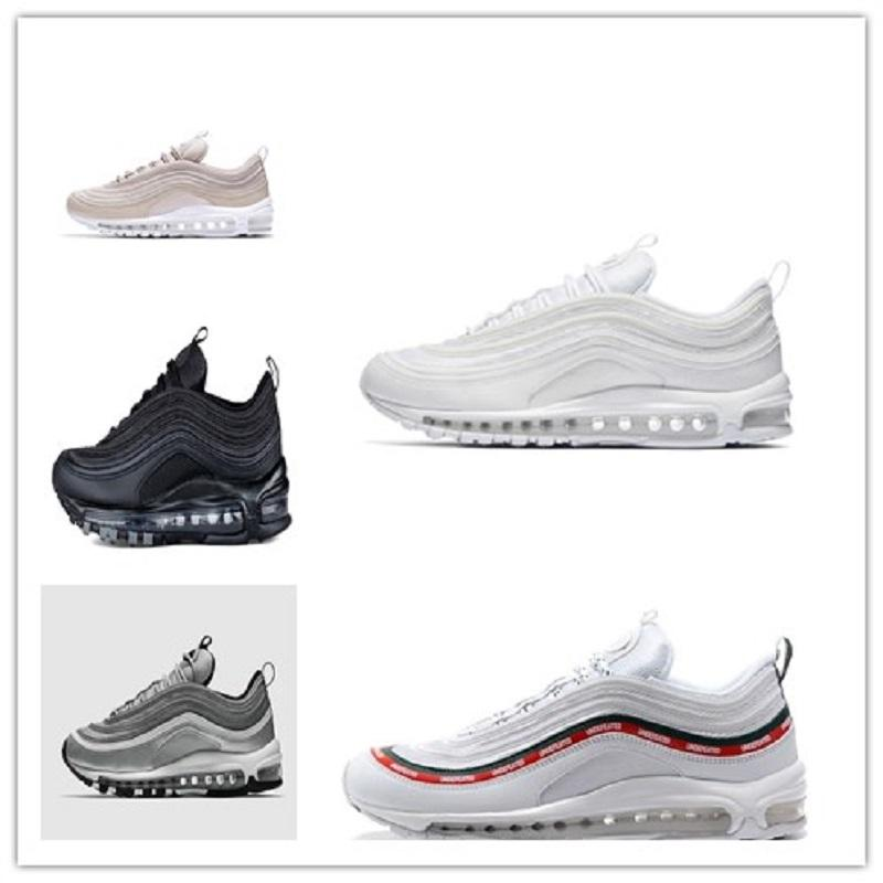 new styles online With Box 97 shoes Og Triple white Running shoes OG Metallic Gold Silver Bullet Pink Mens trainer Women sports sneakers with credit card sale online buy cheap nicekicks kdbfFpBQ