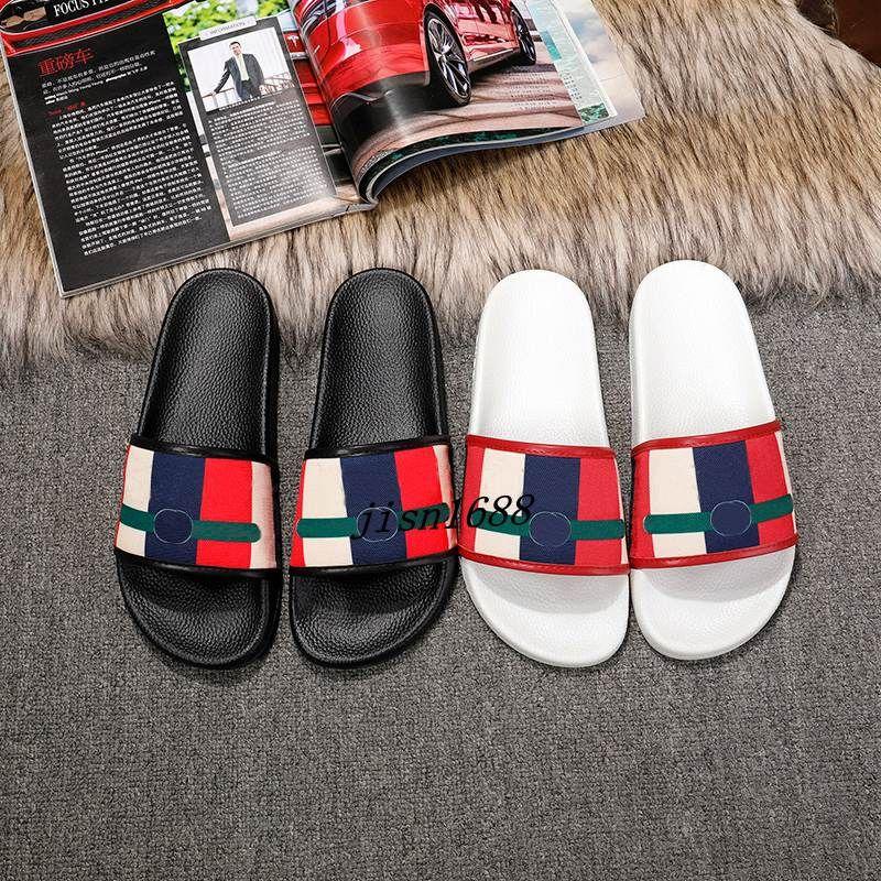 2018 new seasons mens and womens fashion striped linen rubber slide sandals flip flops outdoor beach slippers