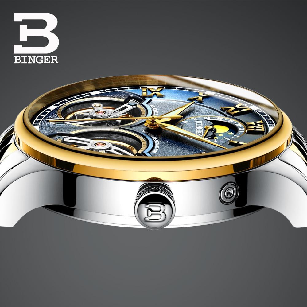 53c9dec26e7 Compre Relogio Masculino BINGER Esqueleto Duplo Tourbillion Mecânica  Relógios Automáticos Auto Vento Negócio Mens Marca De Moda Relógio De  Bestqueen