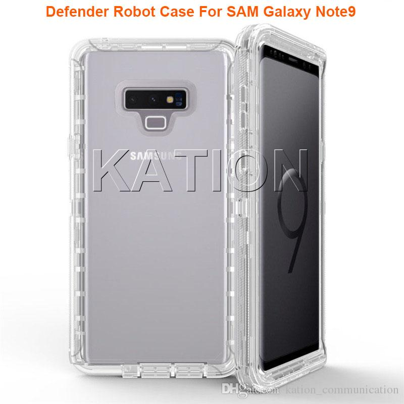 For Samsung Galaxy Note 9 S9 Plus Clear Artistic Pattern Robot Case for iPhone X 8 7 6s Hybrid Crystal Graphics Defender Case