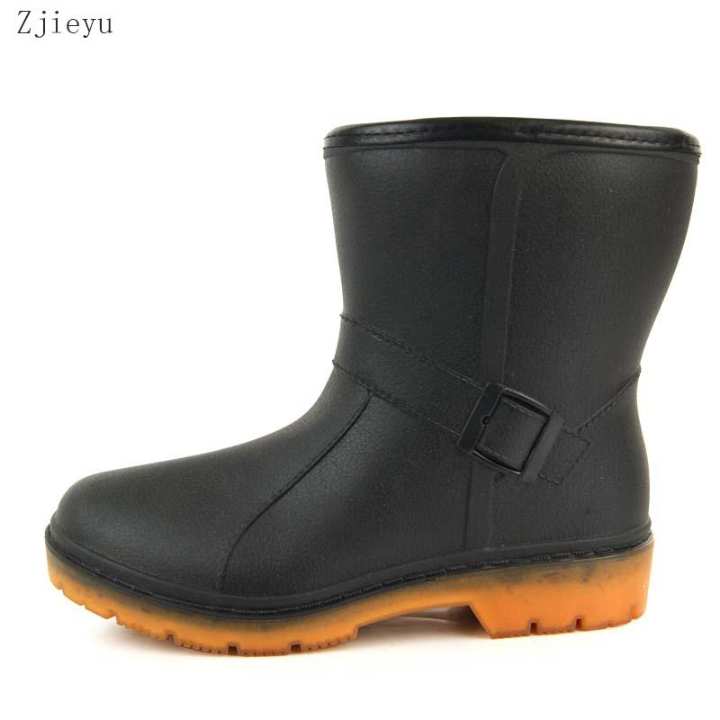 68687cdec64 2019 novos homens de borracha botas de pesca de inverno morno galochas bot  com cor de pelúcia rainboots asker jardim botas de chuva curta botas  Sneakers