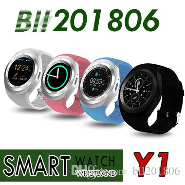 Y1 Smartwatch wrist phone watch with Anti-lost find support calling alarm  SNS function and TF card smart watches