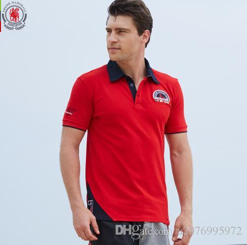 a389822aeb83 2019 FREDD MARSHALL Brand Men Polo Shirt Mens Solid Polo Homme Casual Short  Sleeve Tops For Man Patchwork 100% Cotton Plus Size 028 From A2076995972