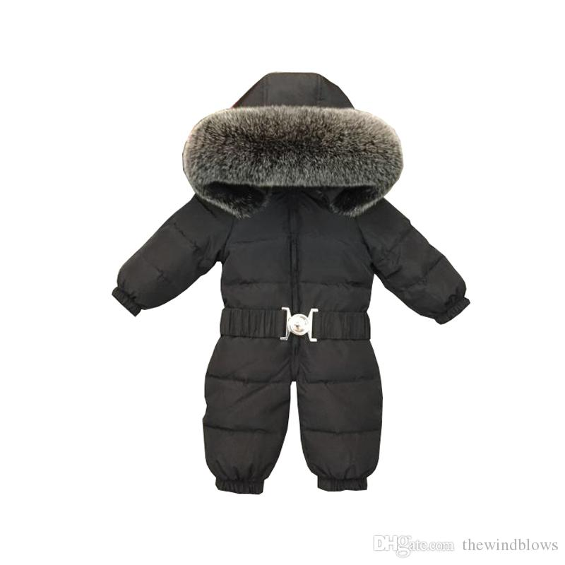 a08af9fe63f8 2019 New 2018 Baby Jumpsuits For Boys Girls Winter Overalls Baby ...