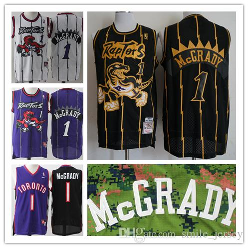 sale retailer b6b08 b472f Retro Mens 1 Tracy McGrady Toronto Raptors Basketball Jerseys Stitched  Hardwood Classic Mesh Raptors Tracy McGrady Retro Basketball Jerseys