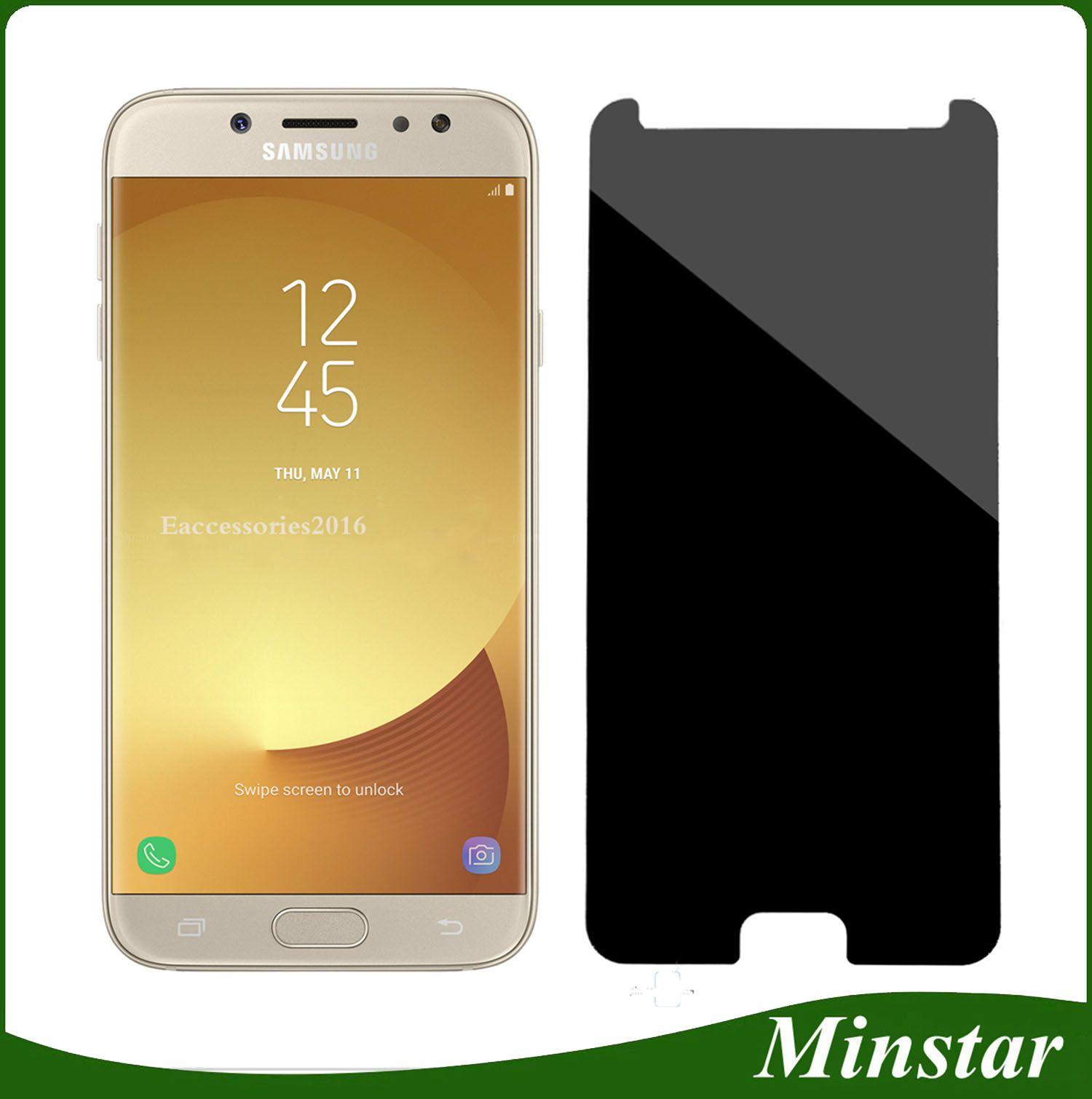 Privacy s Screen Protector Anti Spy Black Tempered Glass For Samsung J2 Pro J3pro J5 Pro J7pro Galaxy J3 2018 J337 J7 2018 J737 Cell Phone Protector e