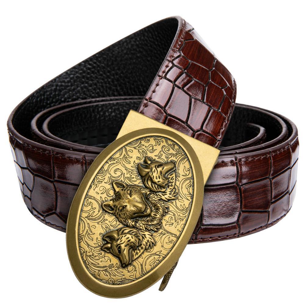 Mens Solid Brass Metal Belt Buckles Diy Cowboy Jeans Accessories Suit 4cm Leather Belts Mens Fivela Solid Color Boucle Ceinture Buckles & Hooks