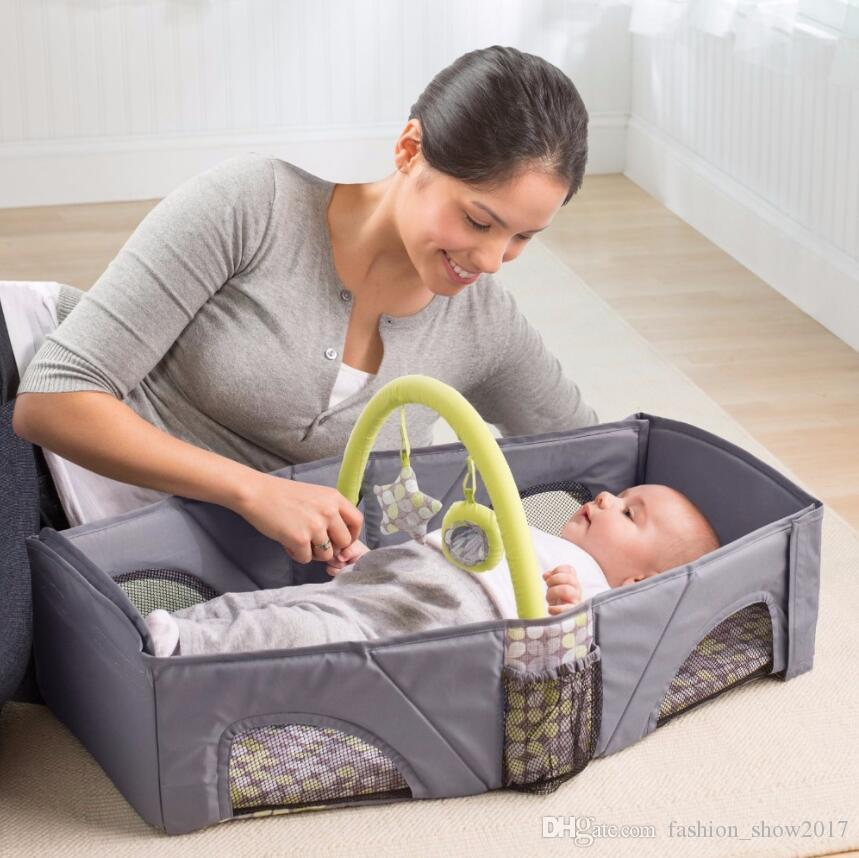 Portable Baby Cribs Newborn Safe Cot Bags Foldable Infant Travel Portable Folding Baby Bed Nappy Mummy Bags Stroller Bags